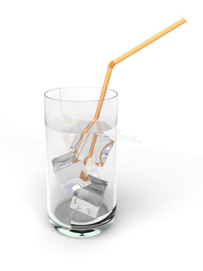 Glas mit Wasser und Eis lizenzfreies stockbild
