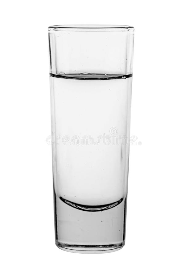 Glas mit Wodka stockfotografie