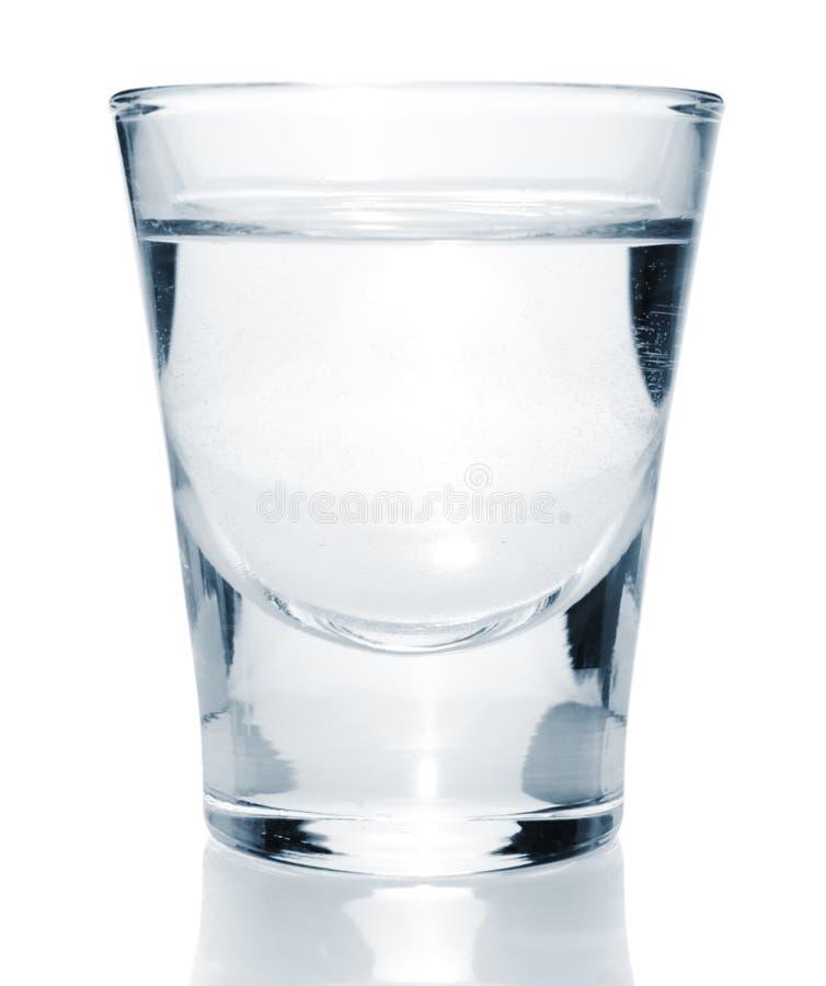 Glas mit Wodka stockfoto