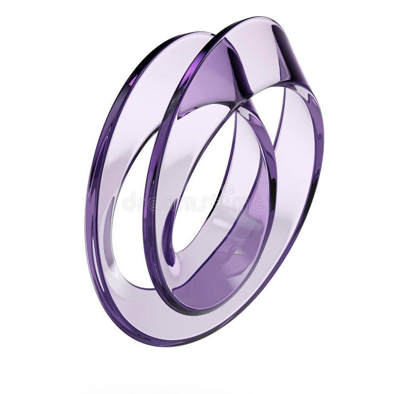 Glas-mobius Streifen lizenzfreie abbildung