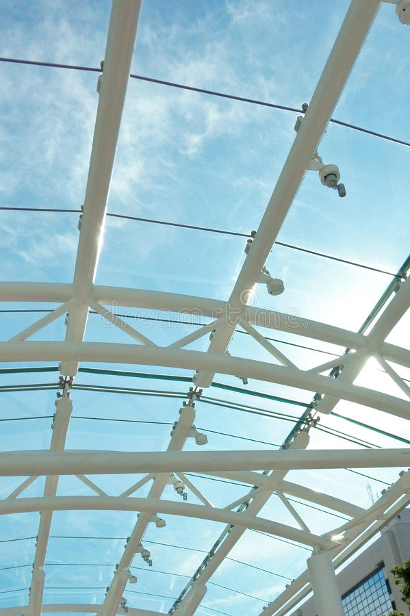 Glas-ommuurd straalplafond royalty-vrije stock foto's