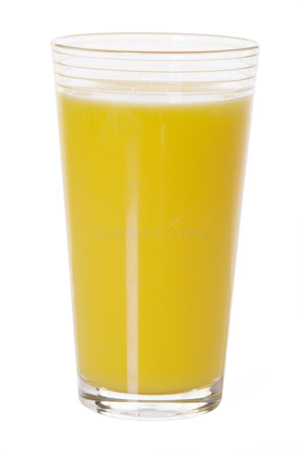 Glas Orangensaft getrennt lizenzfreie stockfotografie