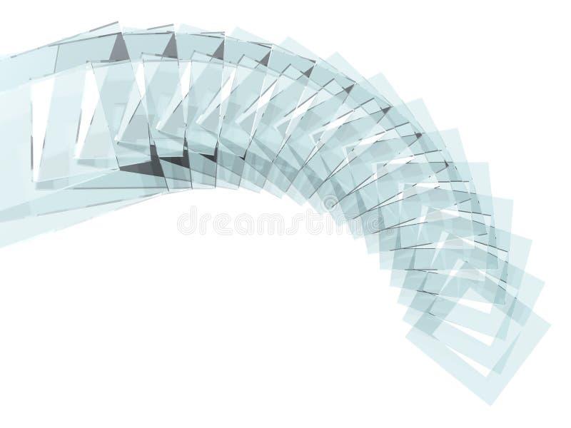 Glas quadriert Spirale lizenzfreie abbildung