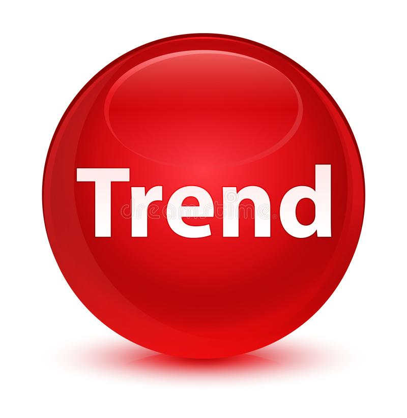 Glas- röd rund knapp för trend royaltyfri illustrationer