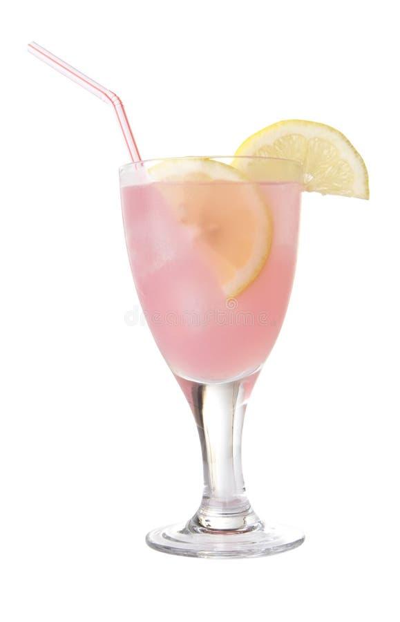 Glas Roze Geïsoleerded Limonade stock foto's