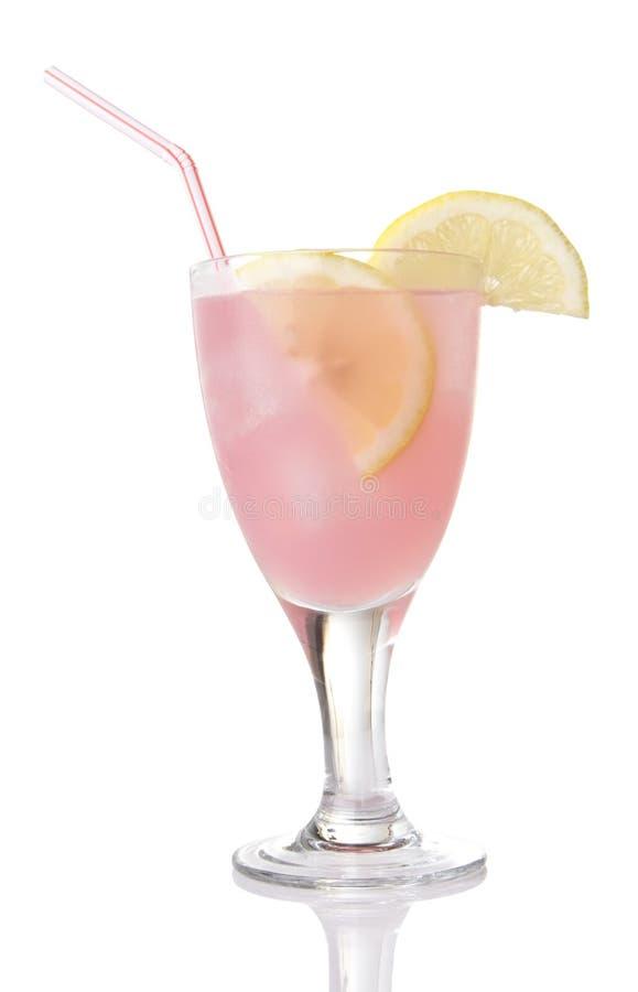 Glas Roze Limonade stock afbeelding