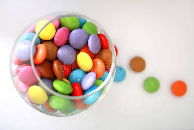 Glas Süßigkeiten lizenzfreie stockfotos