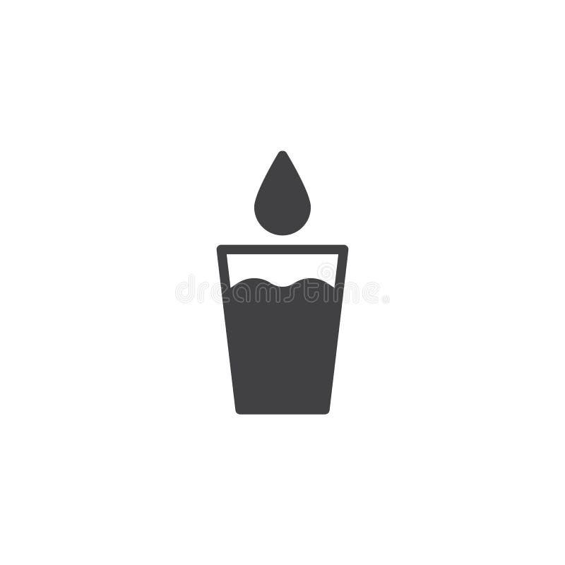 Glas schoon water met dalings dalend vectorpictogram stock illustratie