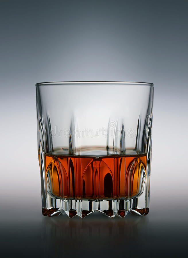 Glas Schotse whisky royalty-vrije stock foto
