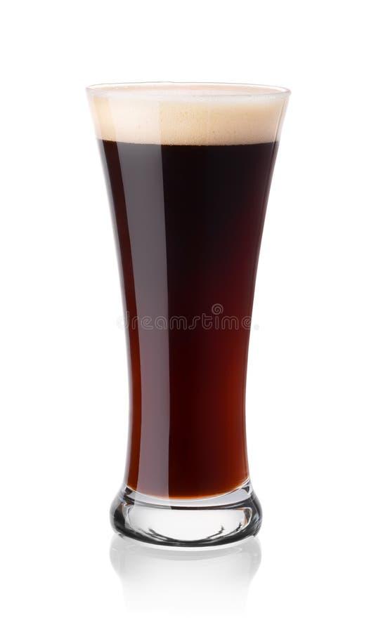 Glas Stout Bier lizenzfreie stockfotos
