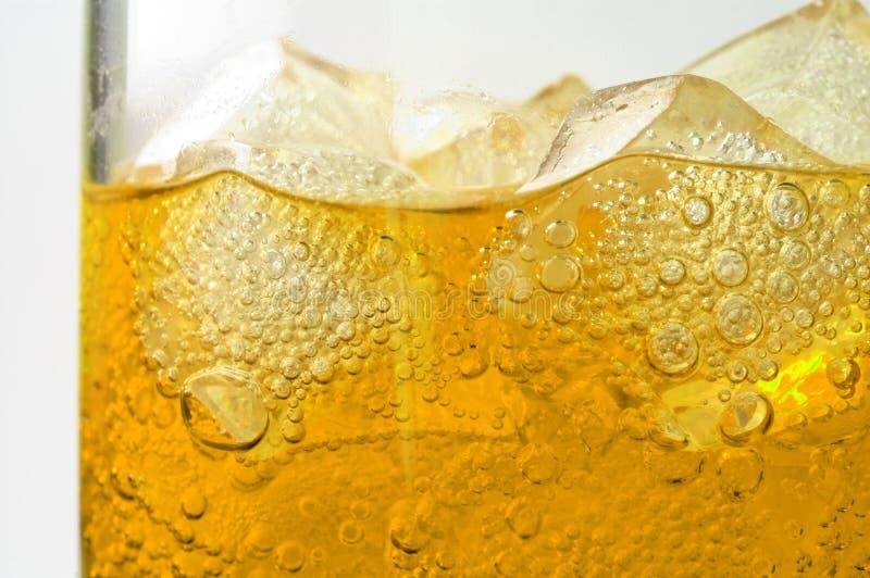 Glas thee met ijs stock afbeelding