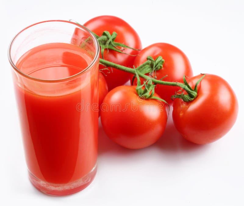 Glas tomatesap royalty-vrije stock fotografie