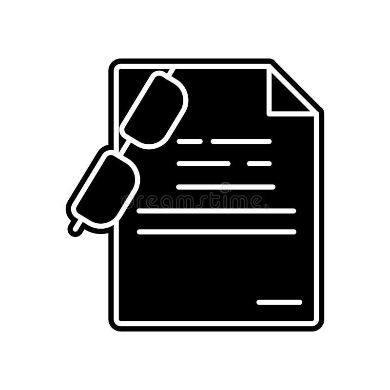Glas- und Papierikone Element der Bildung für bewegliches Konzept und Netz apps Ikone Glyph, flache Ikone für Websiteentwurf und lizenzfreie abbildung