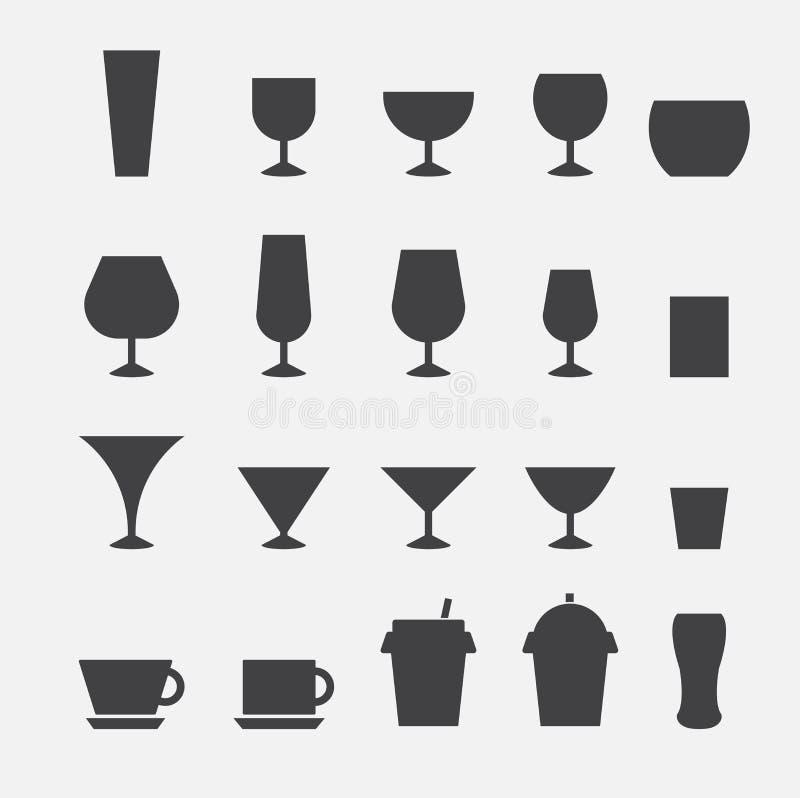 Glas- und Schalenikone lizenzfreie abbildung