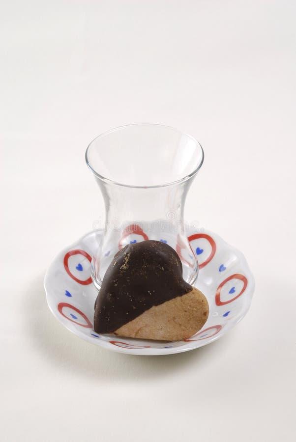 Glas und Schokolade lizenzfreie stockbilder