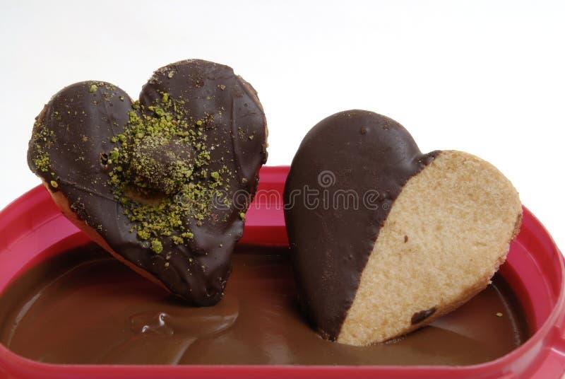 Glas und Schokolade lizenzfreies stockfoto