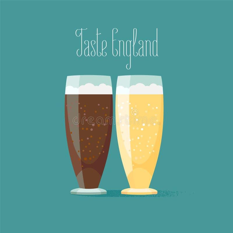 Glas van bier vectorillustratie royalty-vrije illustratie