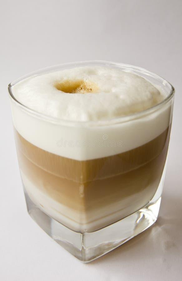 Glas van cappuccino royalty-vrije stock foto's