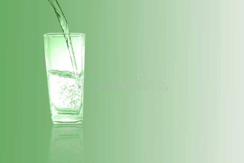Glas van chlorofyl Groene toon stock afbeelding