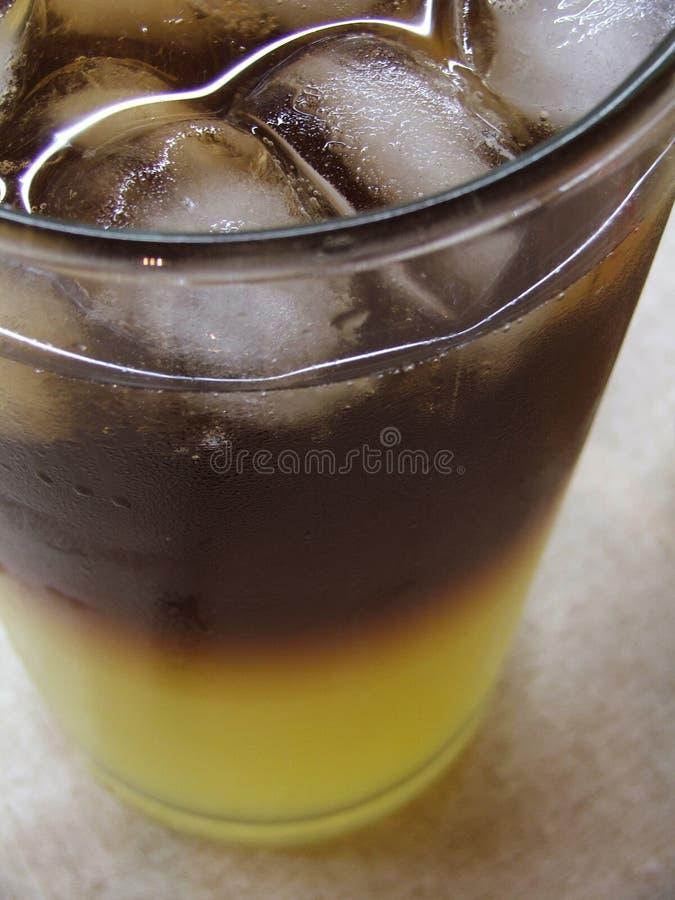 Glas van gekleurde vloeistof royalty-vrije stock foto