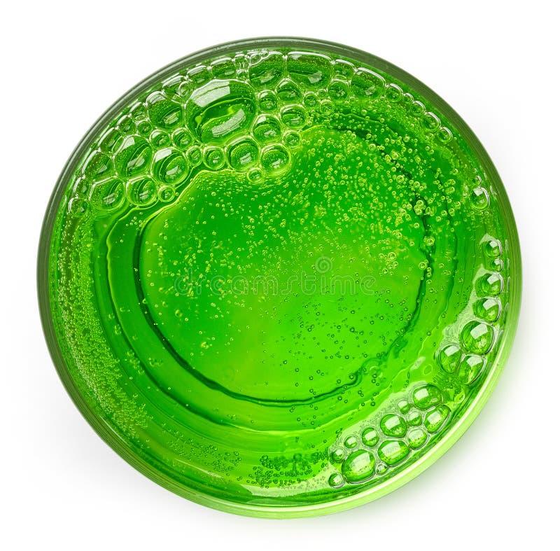 Glas van groene cocktail stock afbeeldingen