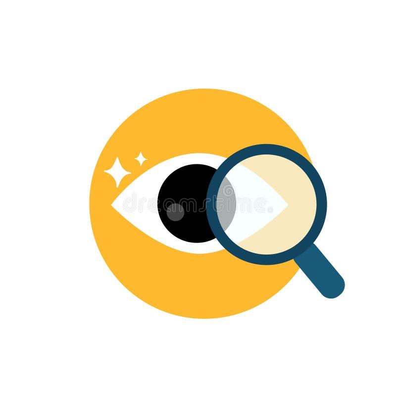 Glas van het bedrijfseconomie het vectoronderzoek stock illustratie