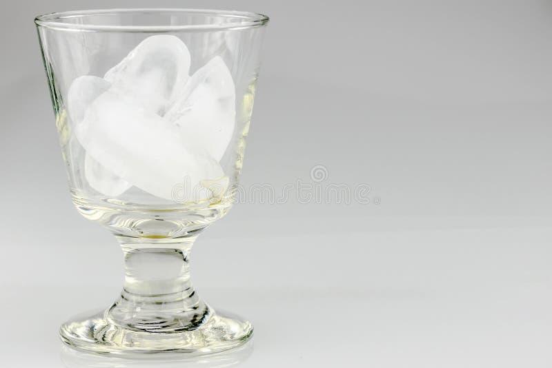 Glas van Icecubes royalty-vrije stock foto