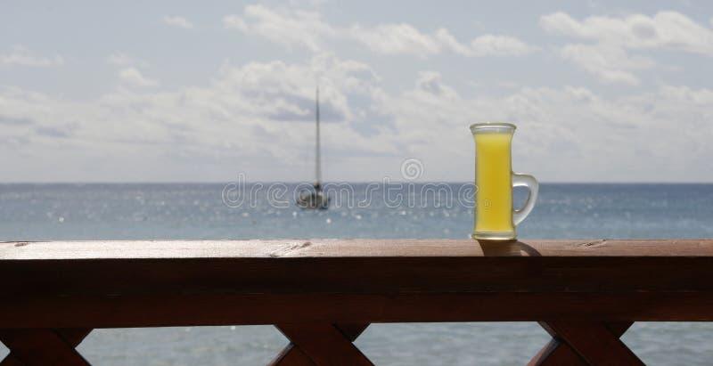 Glas van Limoncello stock fotografie