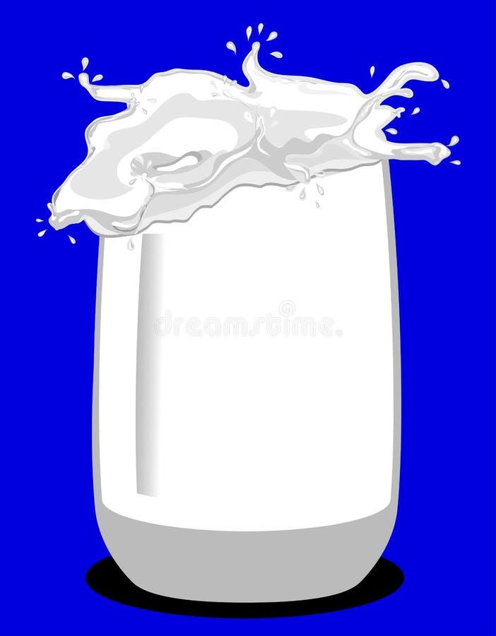 Glas van melk royalty-vrije illustratie