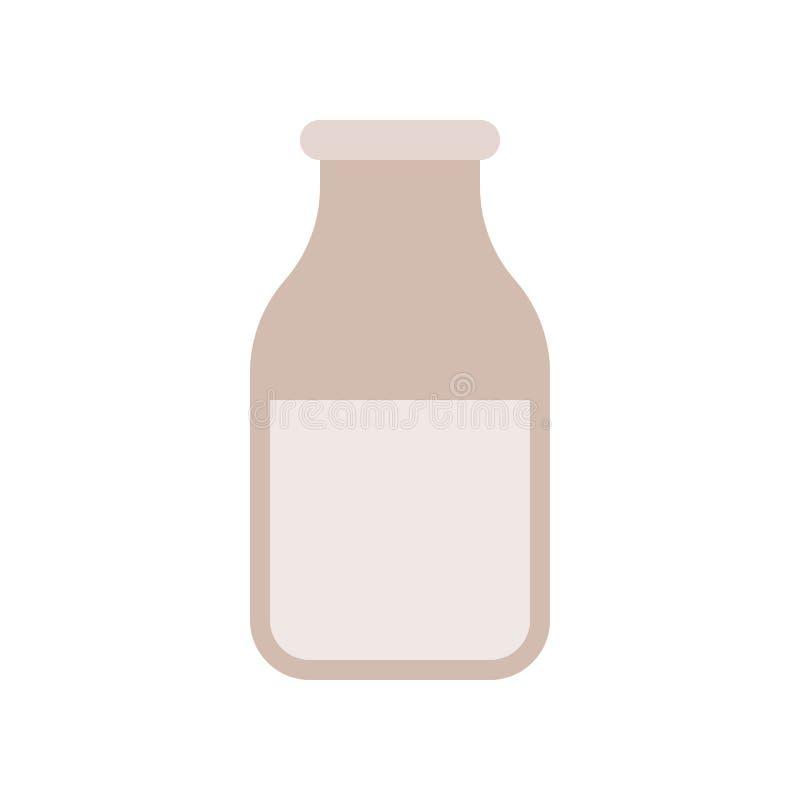 Glas van melk vlak pictogram vector illustratie