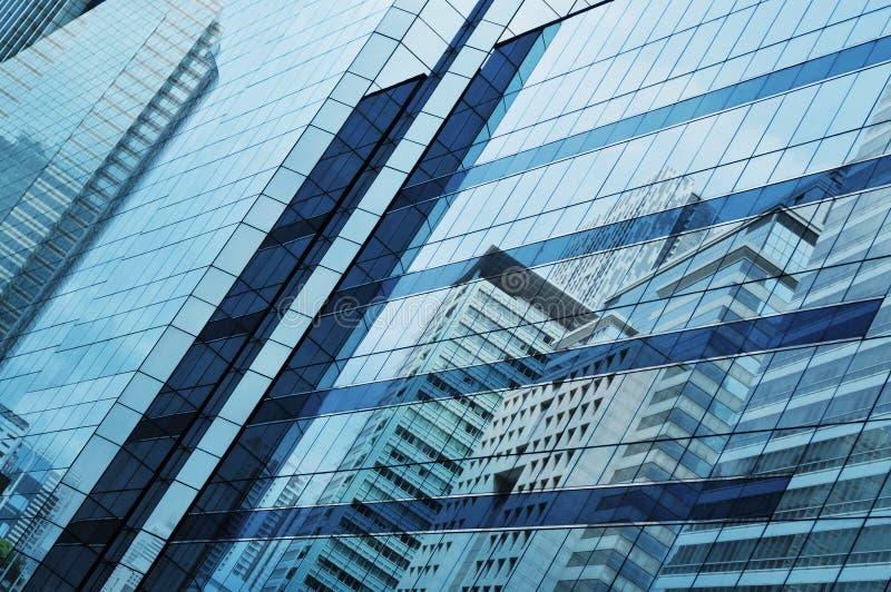 Glas van moderne toren stock afbeelding