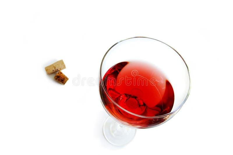 Glas van rood stock foto