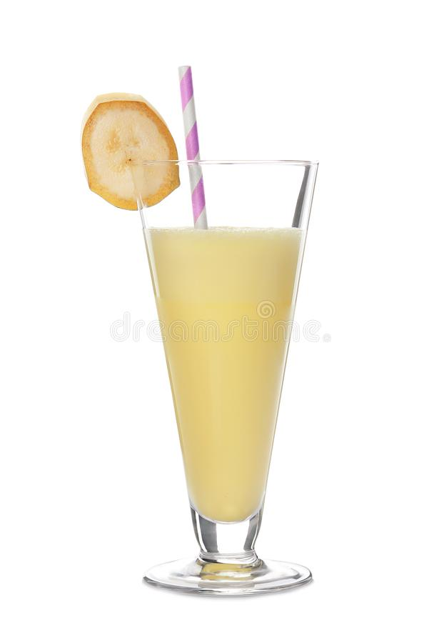 Glas van smakelijke milkshake royalty-vrije stock foto's