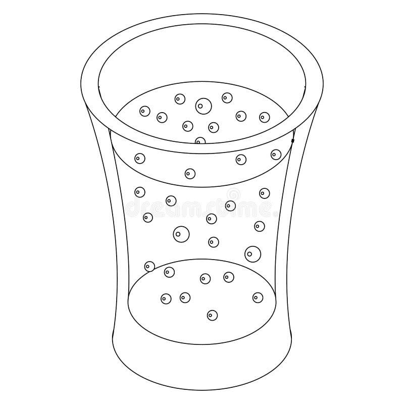 Glas van sprankelend drankpictogram, isometrische 3d stijl stock illustratie