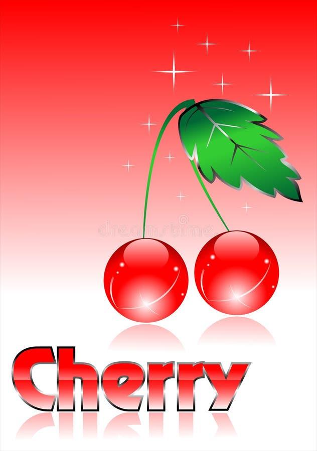 glas- vektor för Cherry royaltyfri illustrationer