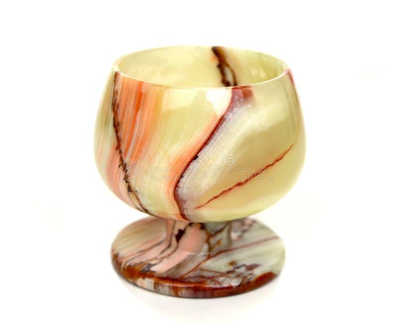 Glas vom Onyx auf einem weißen Hintergrund lizenzfreie stockfotos