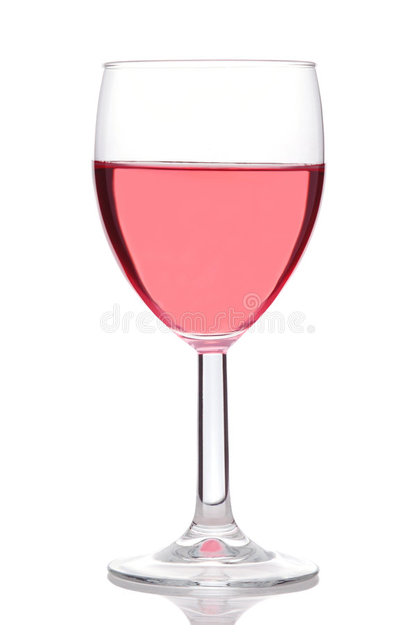 Glas von erröten oder Rosen-Wein lizenzfreie stockbilder