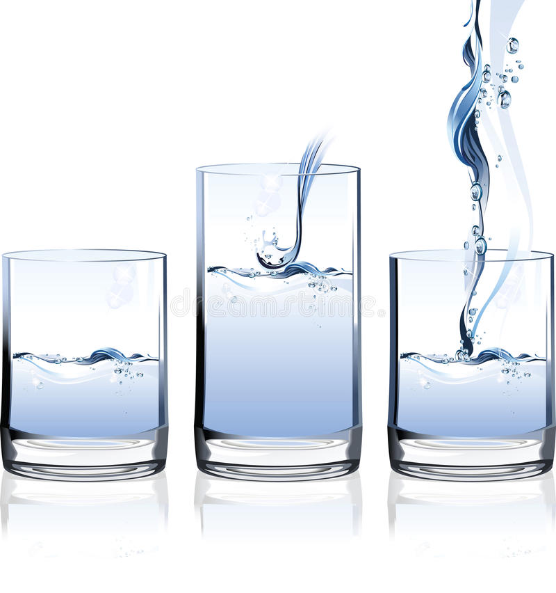 Glas Wasser. stock abbildung