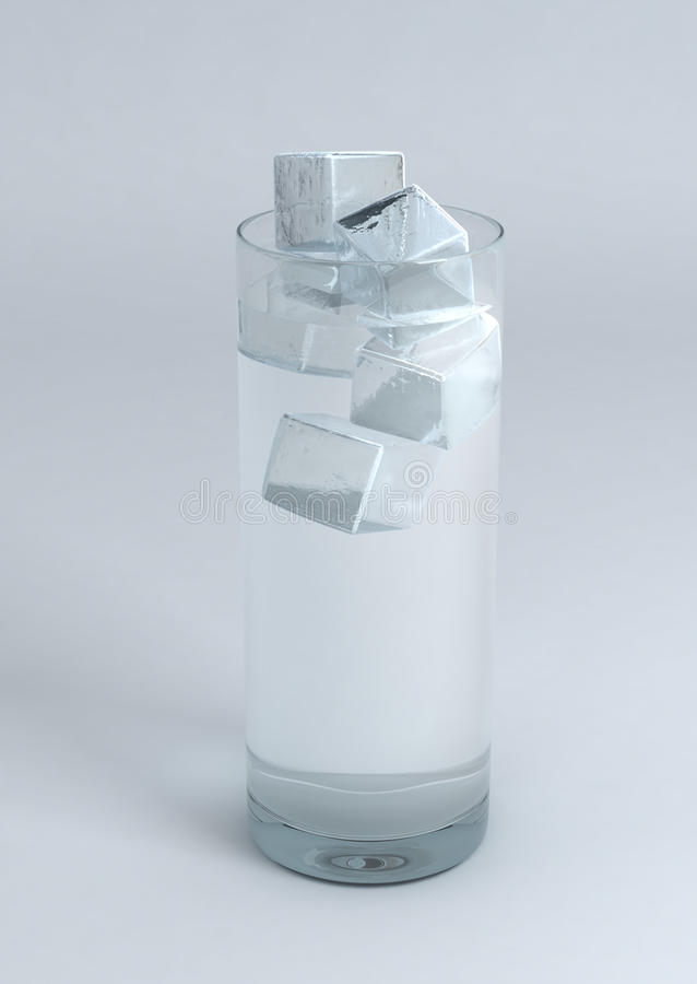 Glas Wasser mit Eis vektor abbildung