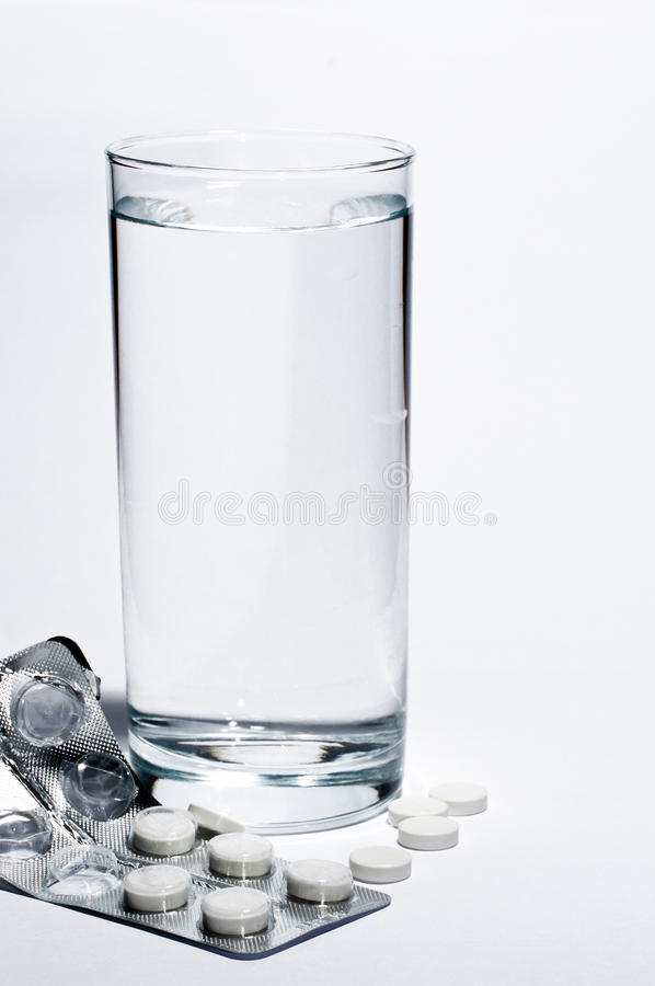Glas water stock foto's