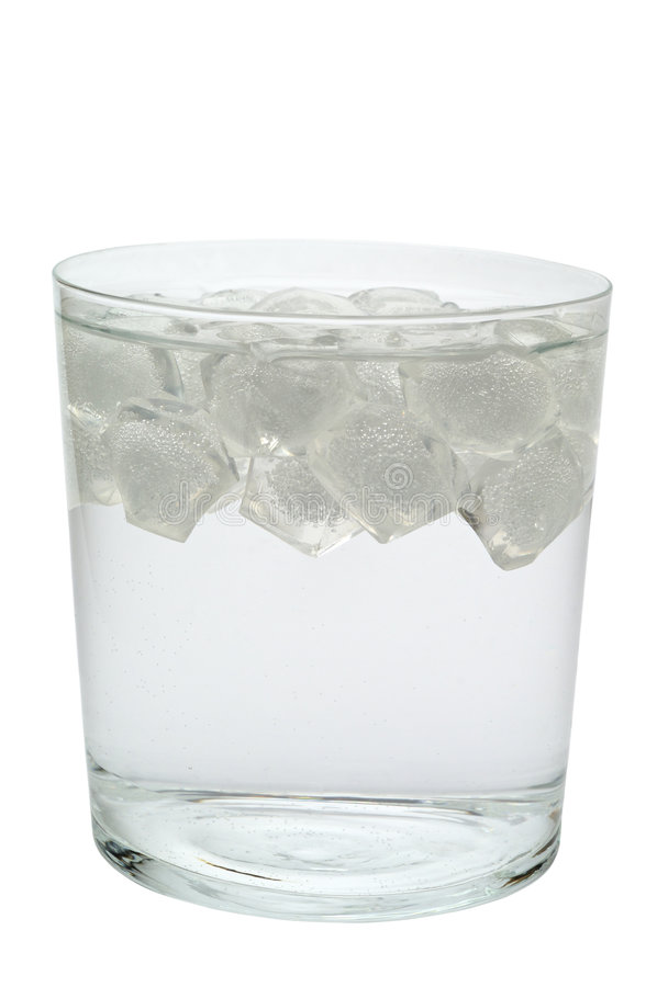 Glas water (of alcoholische drank) stock fotografie