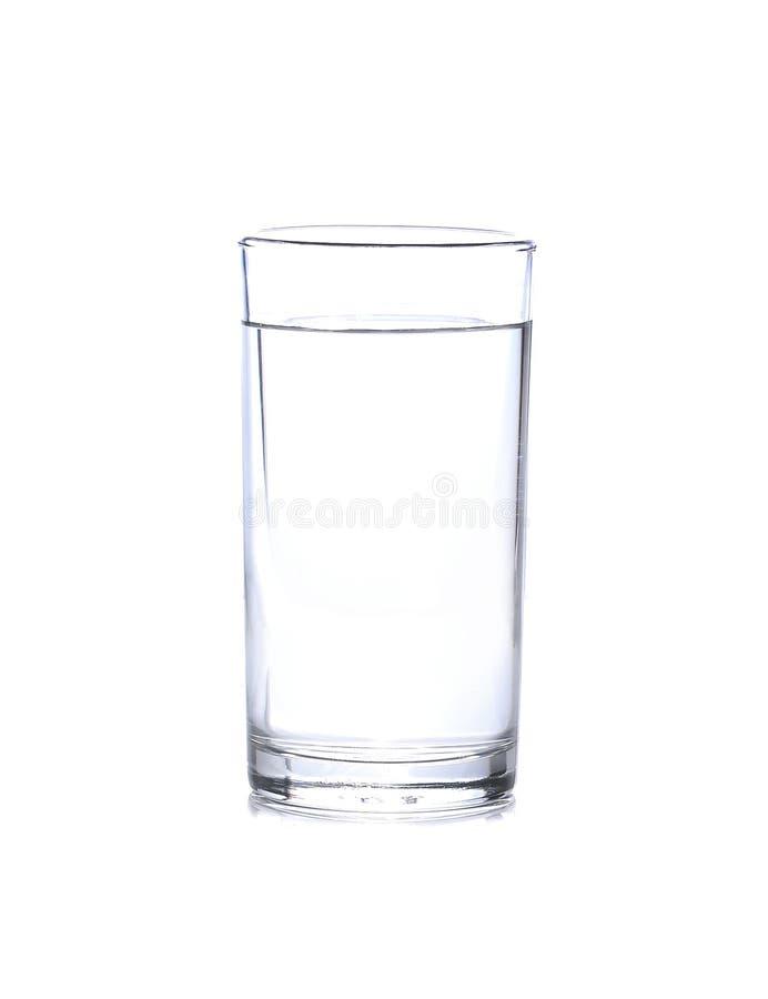 Glas Water dat op Wit wordt geïsoleerd royalty-vrije stock foto