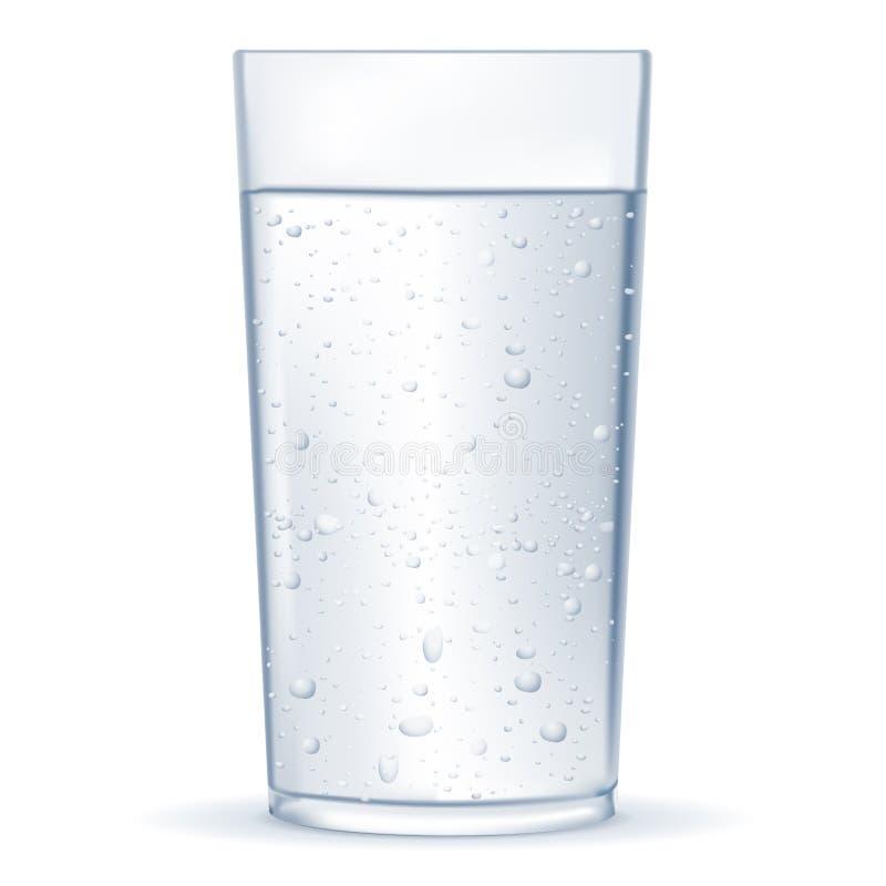 Glas water met bellen royalty-vrije illustratie