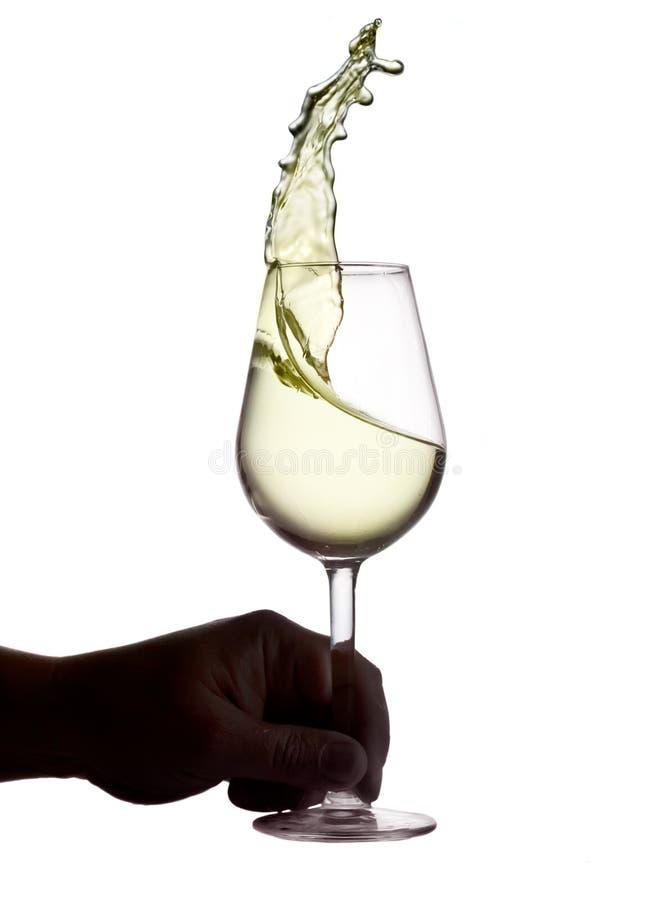 Glas weißer Wein stockfoto
