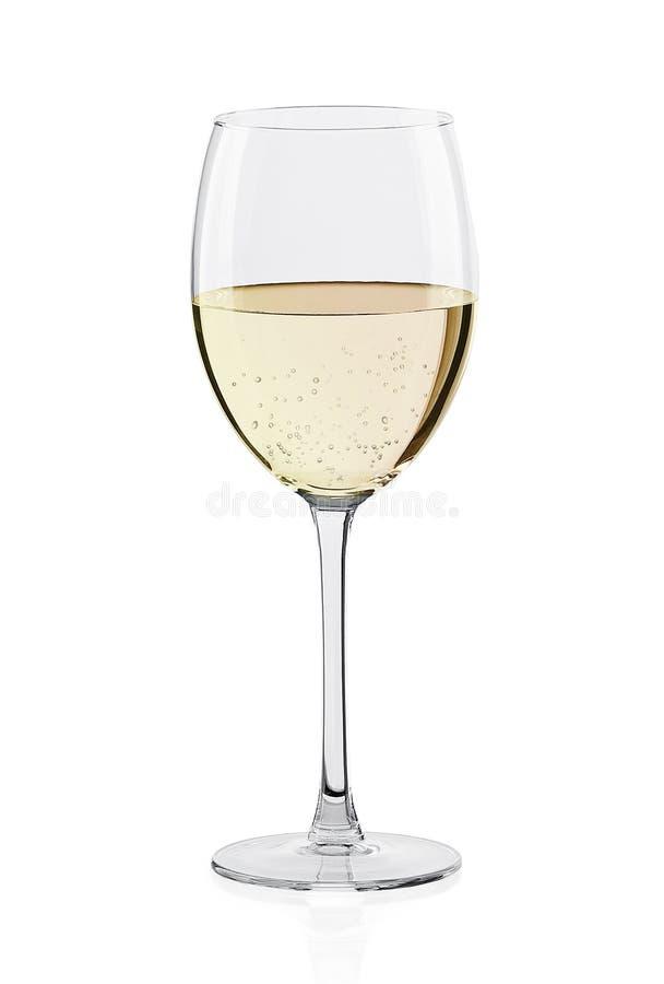 Glas Weißwein lizenzfreie stockfotos