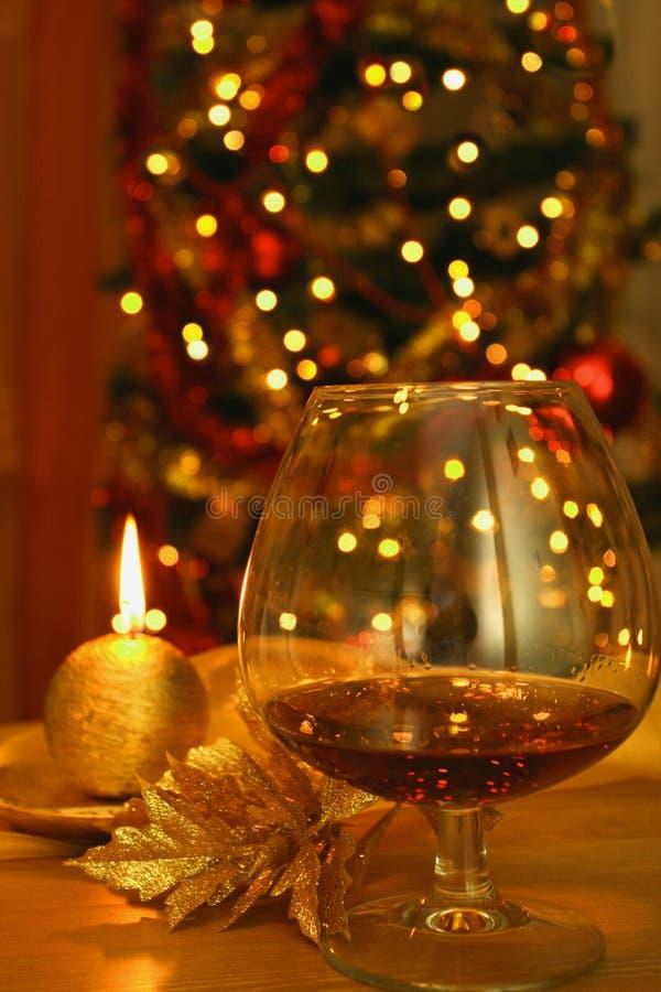 Glas Weinbrand stockfoto