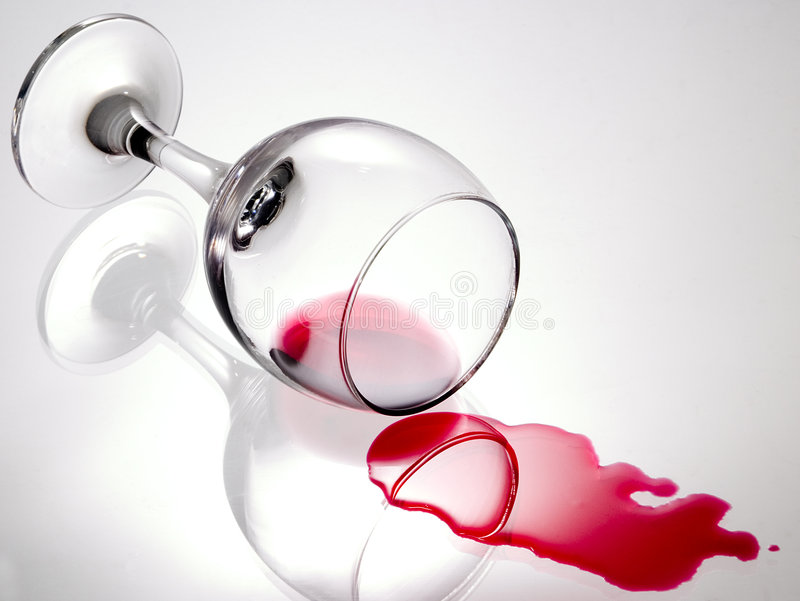 Glas wijn 1 royalty-vrije stock fotografie