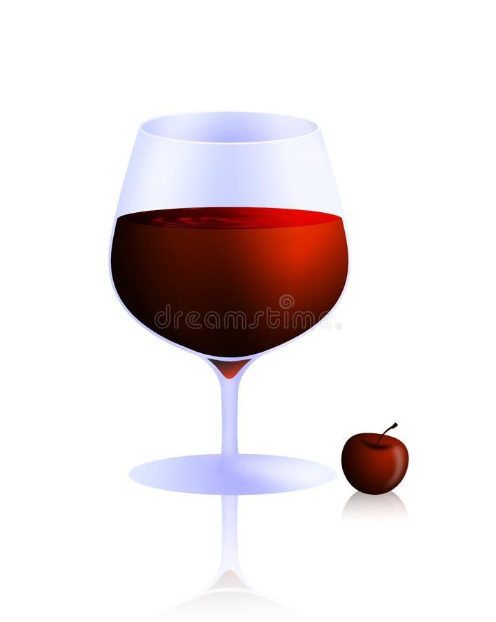 Glas wijn royalty-vrije illustratie