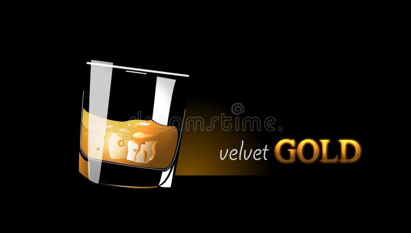 Glas Wisky vector illustratie