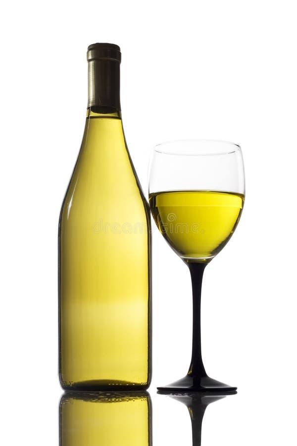Glas witte wijn stock afbeelding